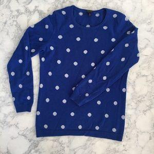Polka dot 100% cashmere sweater
